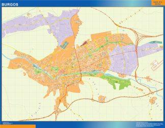 Map of Santa Cruz Tenerife Spain – Laminated wall maps of ...