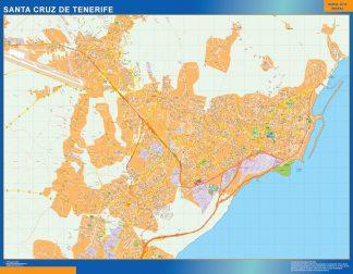Map of Santa Cruz Tenerife Spain
