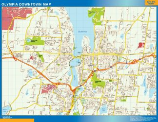 Des Moines downtown map – Laminated wall maps of the world. on