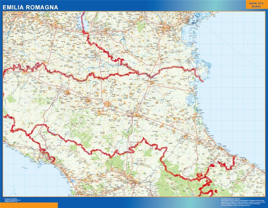Cartina Topografica Emilia Romagna.Region Of Emilia Romagna In Italy Wall Maps Of He World